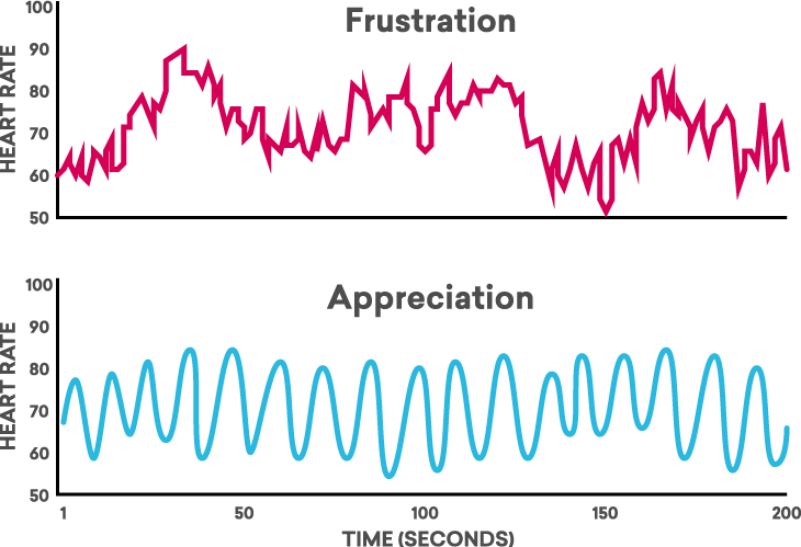 Frustration Versus Appreciation HRV Coherence